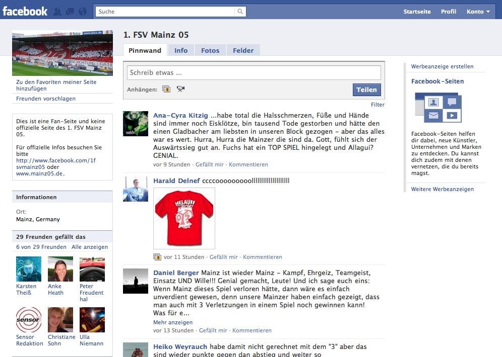 Mainz 05 Facebook