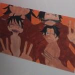 """Das Gemälde zum Thema """"Meine Familie"""" des 17-jährigen BvB-Teilnehmers Zawar Arshad überzeugte die Juroren von """"Behinderte Menschen malen"""" und wurde in die Wanderausstellung des Landesamtes für Soziales, Jugend und Versorgung Rheinland-Pfalz aufgenommen."""