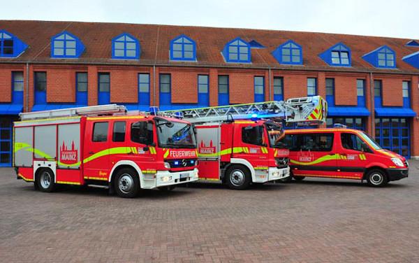 Ein arbeitsreicher Vormittag für die Feuerwehr in Mainz