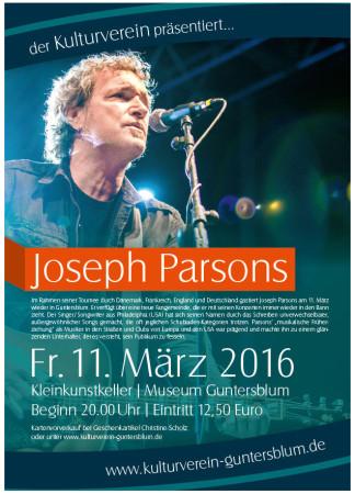 Singer/Songwriter Joseph Parsons kommt nach Guntersblum.